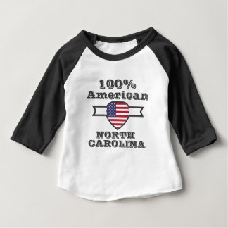 100% American, North Carolina Baby T-Shirt