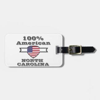 100% American, North Carolina Bag Tag