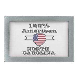 100% American, North Carolina Belt Buckle