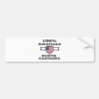 100% American, North Carolina Bumper Sticker