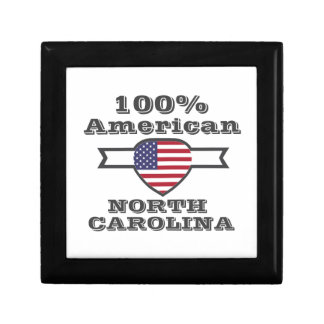 100% American, North Carolina Gift Box