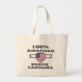 100% American, North Carolina Large Tote Bag
