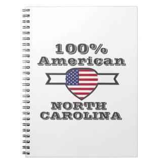 100% American, North Carolina Spiral Notebook