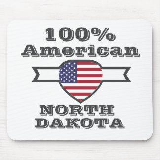 100% American, North Dakota Mouse Pad