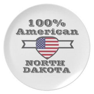 100% American, North Dakota Plate