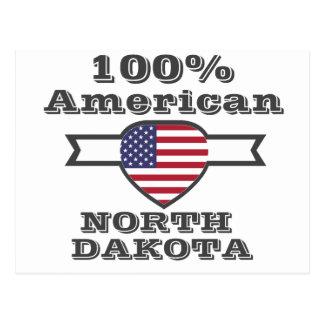 100% American, North Dakota Postcard