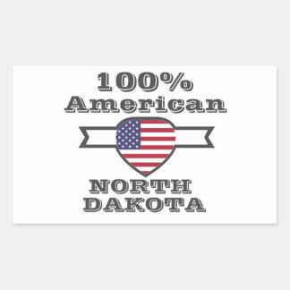 100% American, North Dakota Sticker