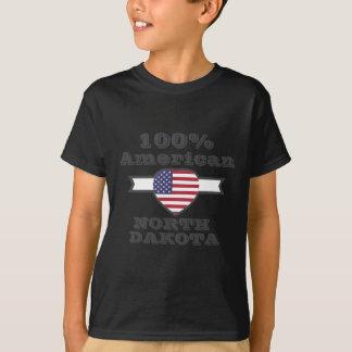 100% American, North Dakota T-Shirt