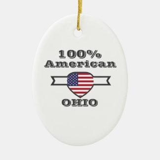 100% American, Ohio Ceramic Ornament