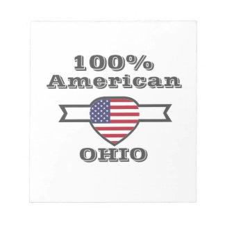 100% American, Ohio Notepad