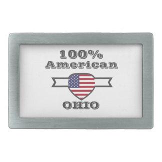 100% American, Ohio Rectangular Belt Buckle