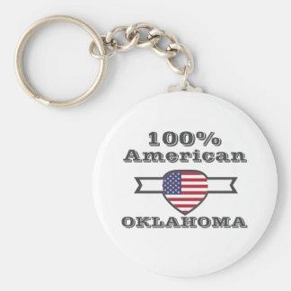 100% American, Oklahoma Keychain