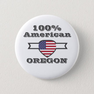 100% American, Oregon 2 Inch Round Button