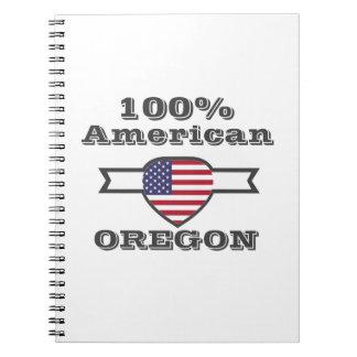 100% American, Oregon Spiral Notebook