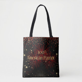 100% American Patriot Tote Bag