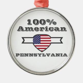 100% American, Pennsylvania Metal Ornament