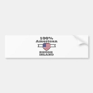 100% American, Rhode Island Bumper Sticker