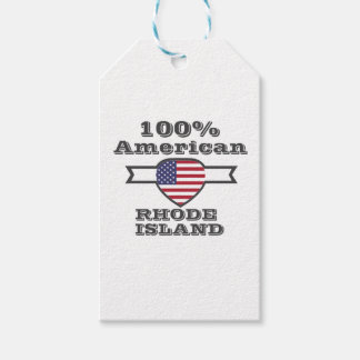 100% American, Rhode Island Gift Tags