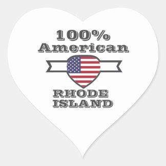 100% American, Rhode Island Heart Sticker