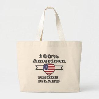 100% American, Rhode Island Large Tote Bag