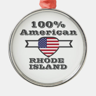 100% American, Rhode Island Metal Ornament