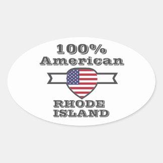 100% American, Rhode Island Oval Sticker