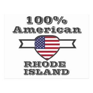 100% American, Rhode Island Postcard