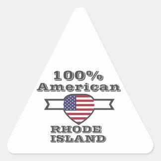 100% American, Rhode Island Triangle Sticker