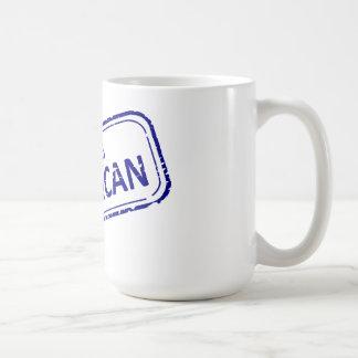100% American Rubber-stamp blue on white Basic White Mug