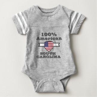 100% American, South Carolina Baby Bodysuit