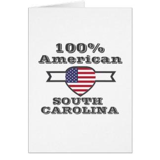100% American, South Carolina Card