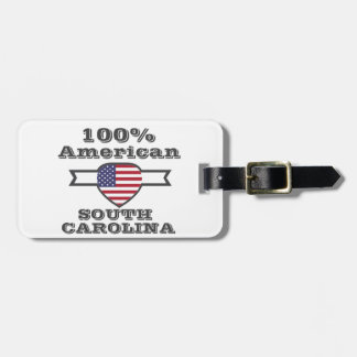 100% American, South Carolina Luggage Tag