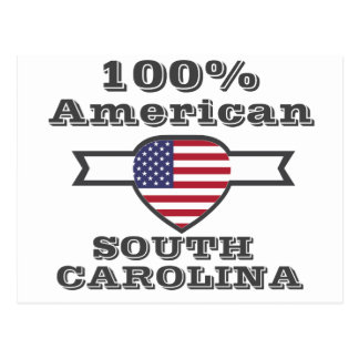 100% American, South Carolina Postcard