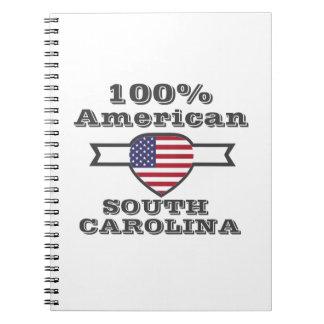 100% American, South Carolina Spiral Notebook