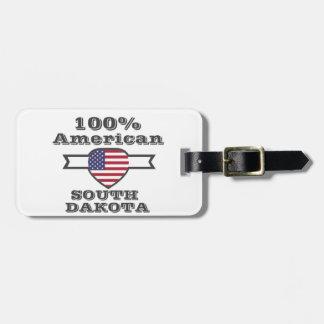100% American, South Dakota Bag Tag
