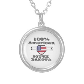 100% American, South Dakota Silver Plated Necklace