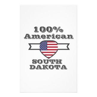100% American, South Dakota Stationery