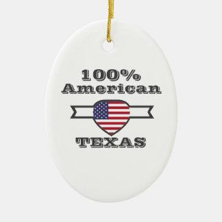 100% American, Texas Ceramic Ornament