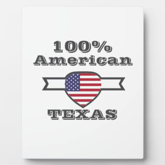 100% American, Texas Plaque