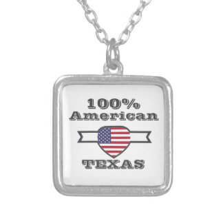 100% American, Texas Silver Plated Necklace