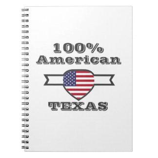 100% American, Texas Spiral Notebook