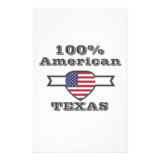 100% American, Texas Stationery