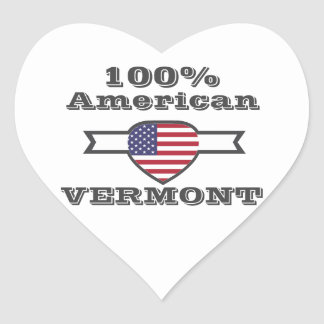100% American, Vermont Heart Sticker