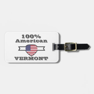 100% American, Vermont Luggage Tag