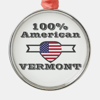 100% American, Vermont Metal Ornament