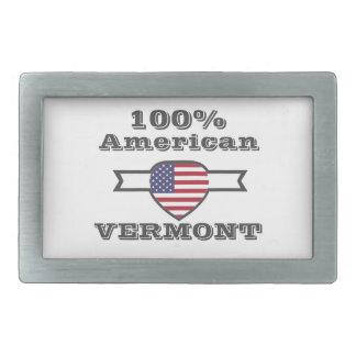 100% American, Vermont Rectangular Belt Buckle
