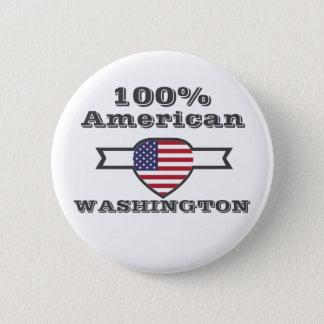 100% American, Washington 2 Inch Round Button