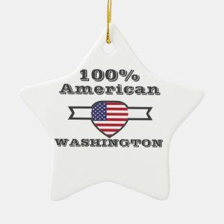 100% American, Washington Ceramic Star Ornament