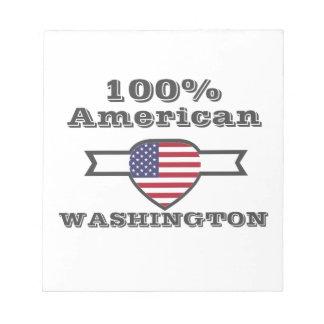 100% American, Washington Notepad