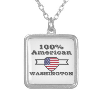 100% American, Washington Silver Plated Necklace